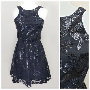 Soiéblu Black Sequin Sleeveless Dress Sz. S